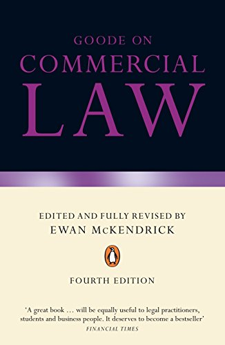 9780141030227: Goode on Commercial Law: Fourth Edition