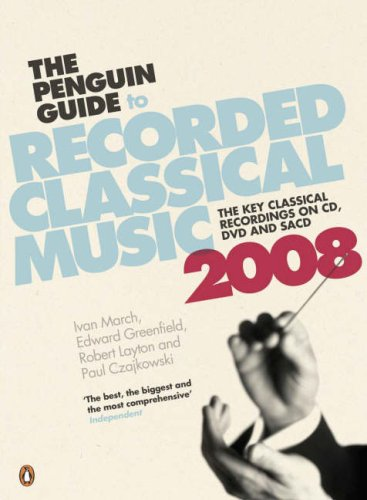 9780141033365: The Penguin Guide to Recorded Classical Music 2008
