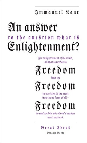 9780141043883: An Answer to the Question: 'What is Enlightenment?' (Penguin Great Ideas)