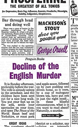 9780141191263: Decline of the English Murder