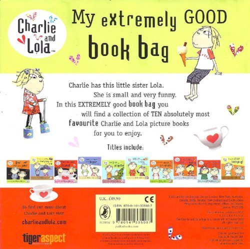 9780141335087: Charlie and Lola Backpack, 10 Books RRP £49.90 : Boo! Made you Jump, Help! I Really Mean It!, You Can Be My Friend, But I Am An Alligator, I Can't Stop Hiccuping!, I Am Extremely Absolutely Boiling, I