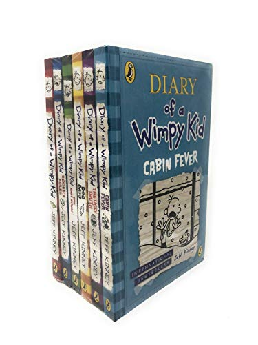 Diary of A Wimpy Kid Collection 6 Books Set Jeff Kinney