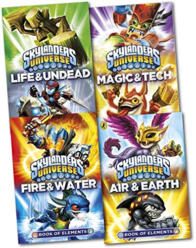 9780141355726: Skylanders Universe 4 Books of Elements Collection Pack Set-Book of Elements: Magic & Tech , Book of Elements: Fire & Water, Book of Elements: Life & Undead, Book of Elements: Air & Earth
