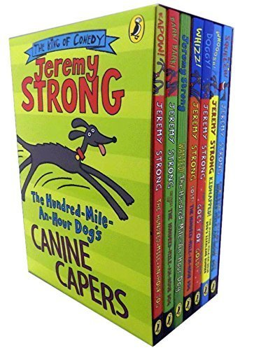 9780141365886: Jeremy Strong Hundred Mile An Hour The Dogs Collection 7 Books Box Gift Set Pack (The Hundred-Mile-an-Hour Dog, Return of the Hundred-Mile-an-Hour Dog, Lost The Hundred-Mile-An-Hour Dog, Kidnapped The Hundred-Mile-an-Hour Dog's Sizzling Summer, Christmas Chaos for the Hundred-Mile-An-Hour Dog, The Hundred-Mile-an-Hour Dog Goes for Gold, Wanted The Hundred-Mile-An-Hour Dog)