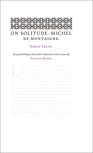 9780141399256: On Solitude (Penguin Great Ideas)