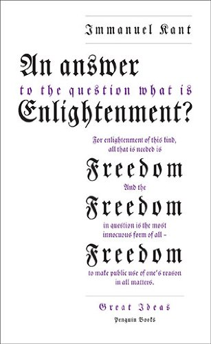 9780141399294: AN Answer to the Question: 'What Is Enlightenment?' (Penguin Great Ideas)