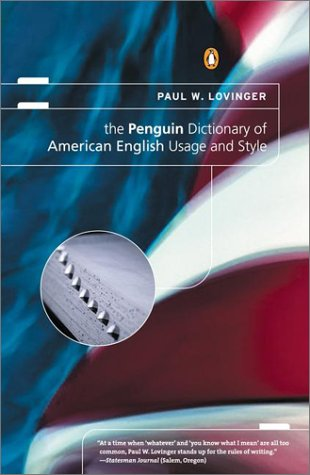 9780142000465: The Penguin Dictionary of American English Usage and Style