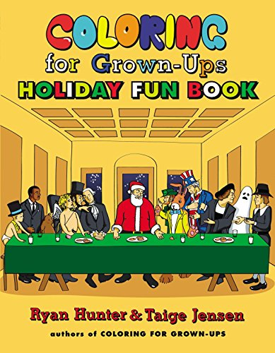 9780142180686: Coloring for Grown-Ups Holiday Fun Book