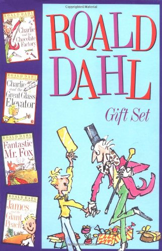 9780142400944: Roald Dahl Gift Set: Charlie and the Chocolate Factory, Charlie and the Great Glass Elevator, Fantastic Mr. Fox, & James and the Giant Peach