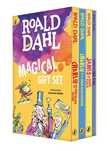 9780142414972: Roald Dahl Magical Gift Set (4 Books): Charlie and the Chocolate Factory, James and the Giant Peach, Fantastic Mr. Fox, Charlie and the Great Glass Elevator
