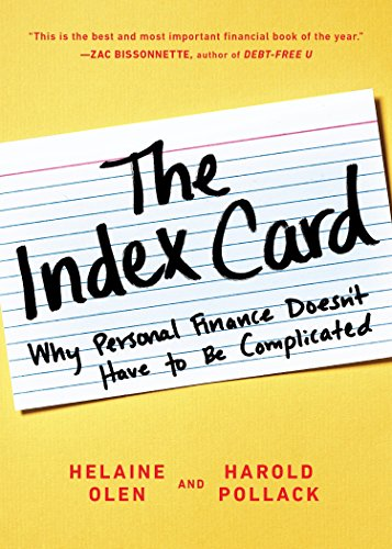 9780143130529: The Index Card: Why Personal Finance Doesn't Have to Be Complicated