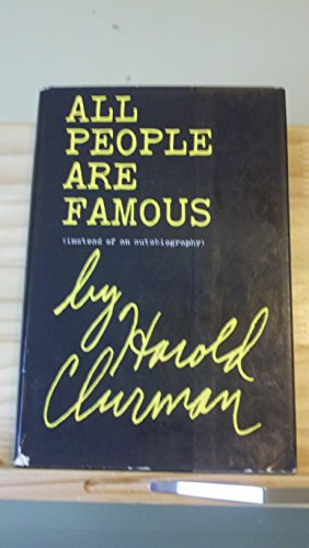 9780151047758: All people are famous (instead of an autobiography)