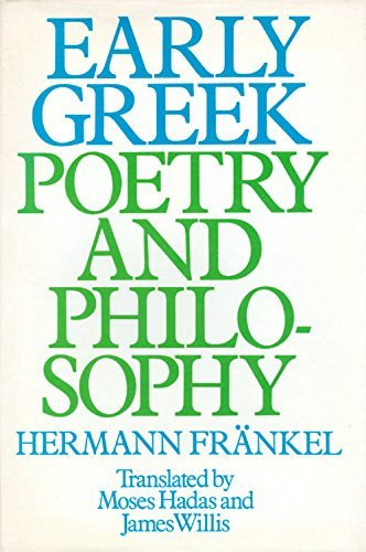 9780151271900: Early Greek Poetry and Philosophy: A History of Greek Epic- Lyric- and Prose to the Middle of the Fifth Century