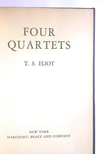 9780151330539: Four Quartets