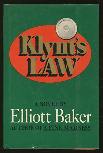 9780151472833: Klynt's law: A novel