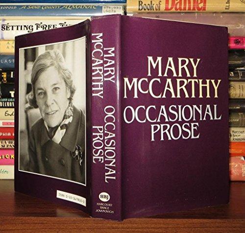 9780151678105: Occasional Prose: Essays