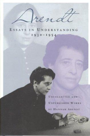 essays in understanding arendt pdf