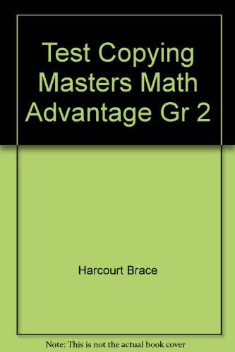 9780153079474: Test Copying Masters Math Advantage Gr 2
