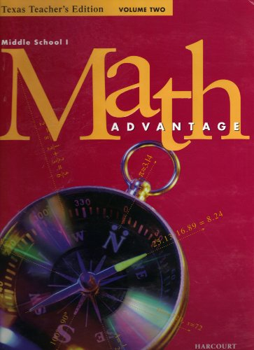 9780153107122: Middle School I  Math Advantage  Preparation for