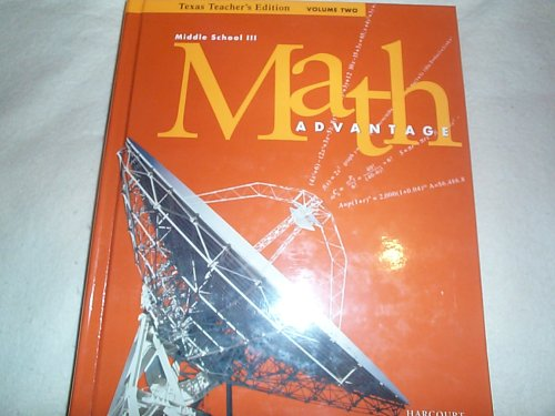 Math Advantage, Grade 8 : Texas Edition: Harcourt School Publishers