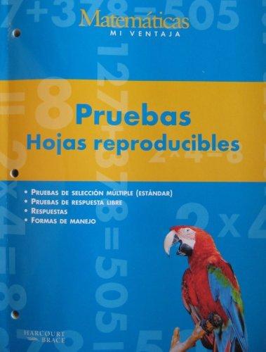 9780153107450: Matematicas Mi Ventaja, Pruebas, Hojas reproducibles, Grado 3