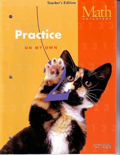 Harcourt Brace Math Advantage Practice Workbook on My Own, Teachers Edition Grade K: Staff