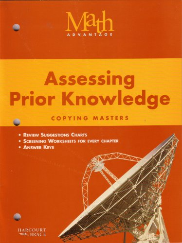 Math Advantage Assessing Prior Knowledge Copying Masters,: Harcourt Brace staff