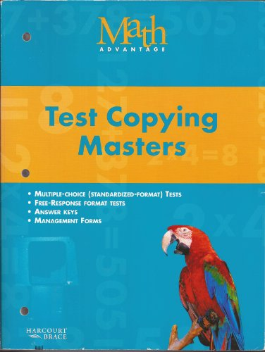 Test Copying Masters - Math Advantage -: Not Listed
