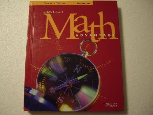 9780153114564: Math Advantage: Middle School 1 Grade 6 Teacher's Edition Vol 1