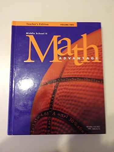 Math Advantage: Middle School II: Teacher's Edition: Harcourt Brace