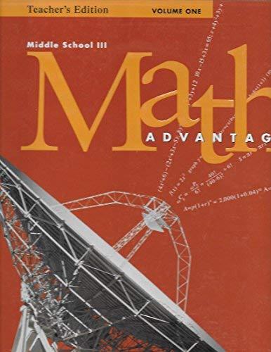 Math Advantage, Grade 8: Harcourt School Publishers