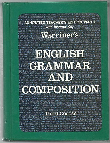 9780153118142: Warriner's English Grammar And Composition - Liberty Edition - Third Course by