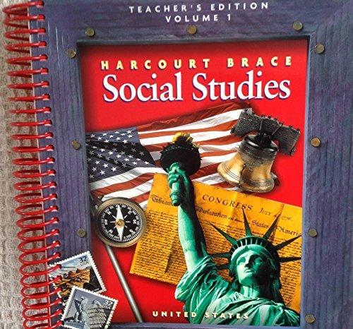 9780153121081: Harcourt Brace Social Studies, Grade 5 Vol 1 United States Teacher's Edition