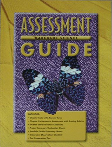 Harcourt Science: Assessment Guide, Grade 3: HARCOURT SCHOOL PUBLISHERS