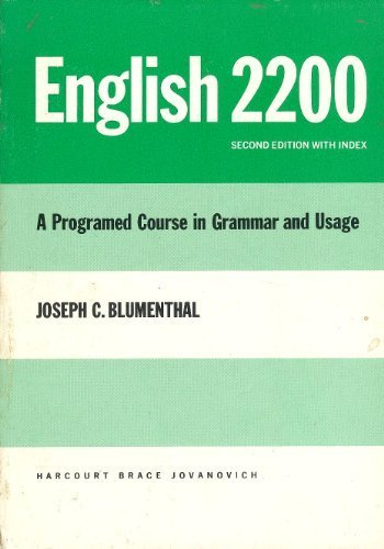 9780153139956: English 2200: A Programed Course In Grammar Usage.