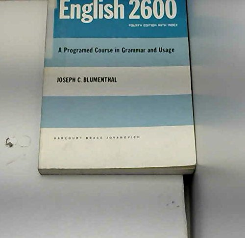English 2600: A Programed Course in Grammar: Joseph C. Blumenthal