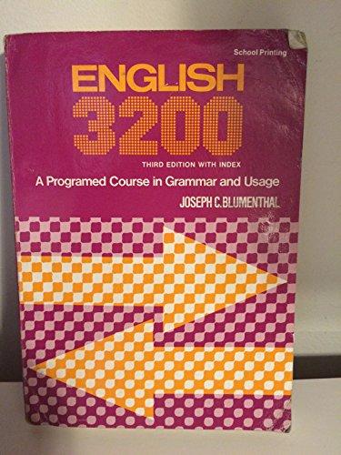 English 3200: Blumenthal, Joseph C.