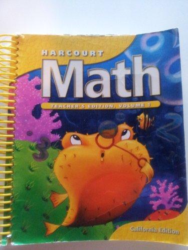 Harcourt Math Grade 2 Teacher's Edition California Edition (Volume 1): Richard Askey