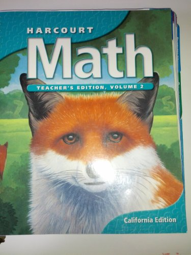9780153155307: Harcourt Math Grade 5 Volume 2 Teacher's Edition California Edition