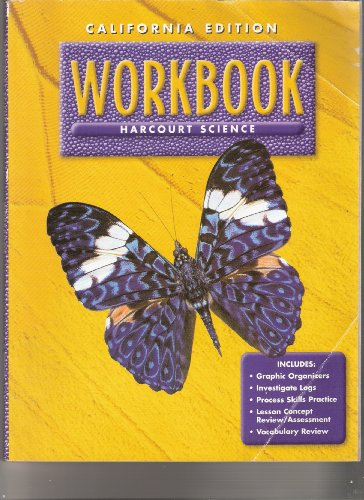9780153176753: Workbook (Harcourt Science, California Edition)