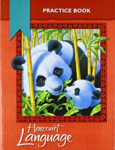 9780153179853: Harcourt School Publishers Language: Practice Workbook Grade 3