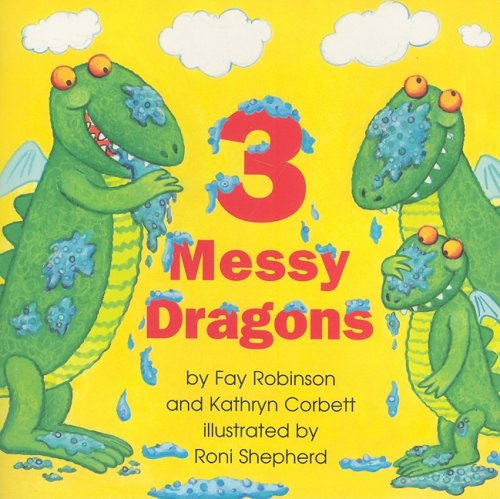 9780153196355: Harcourt School Publishers Math: Reader: Book 12 Grade 2 3 Messy Dragons