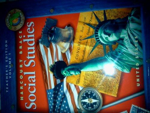 9780153201073: Harcourt Brace Social Studies Teachers Florida Edition Vol. 1 Grade 5