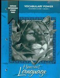 9780153202483: Teacher's Guide Grade 4: Vocabulary Power Harcourt Language
