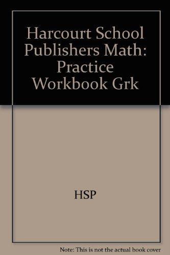 9780153204340: Math: Practice Workbook, Kindergarten (Harcourt School Publishers Math)