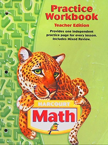 9780153204395: Harcourt Math Practice Workbook: Pupil's Edition Grade 5