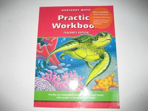 9780153206627: Harcourt Math Practice Workbook (Teacher's Edition)
