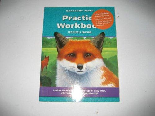 9780153206634: Harcourt Math Practice Workbook (Teacher's Edition)