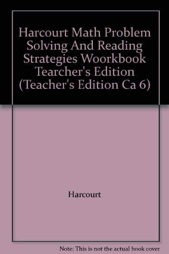 9780153206825: Harcourt Math Problem Solving And Reading Strategies Woorkbook Tearcher's Edi...