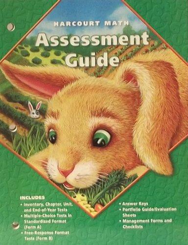 9780153206849: Harcourt Math Assessment Guide Grade 1 (grade 1)